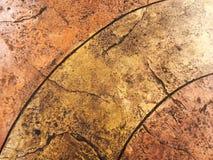 Vista di prospettiva di pietra naturale del fondo di struttura del pavimento di Brown Fotografia Stock