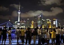 Vista di Pudong - di Schang-Hai Immagini Stock Libere da Diritti
