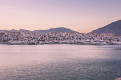 Vista di Puerto Banus, Spagna Fotografie Stock
