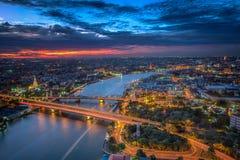Vista di punto culminante di Bangkok Fotografia Stock