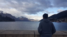 Vista di Queenstown Immagine Stock