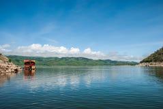 Vista di rafting Fotografie Stock