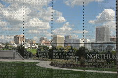 Vista di Richmond, la Virginia, da Virginia War Memorial fotografia stock