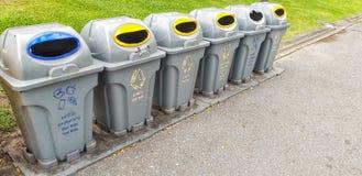 Vista di rifiuti allineata immagine stock libera da diritti
