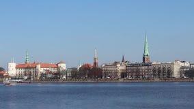 Vista di Riga Città Vecchia video d archivio