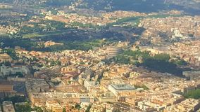 Vista di Roma con Colosseum Fotografie Stock Libere da Diritti