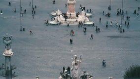 Vista di Roma da Pincio: Piazza del Popolo archivi video