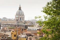 Vista di Roma da sopra Immagini Stock Libere da Diritti