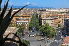 Vista di Roma dal ` Angelo di Castel Sant immagine stock