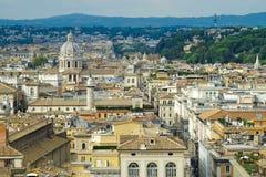 Vista di Roma dal terrazzo dell'altare della patria Immagine Stock Libera da Diritti