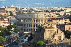Vista di Roma dall'altare del della Patria di Altare di patria Fotografia Stock