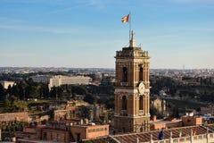 Vista di Roma dall'altare del della Patria di Altare di patria Fotografia Stock Libera da Diritti
