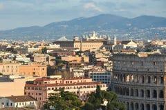 Vista di Roma dall'altare della patria Fotografia Stock Libera da Diritti