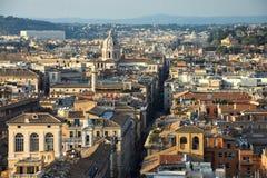 Vista di Roma dall'altare della patria Fotografie Stock