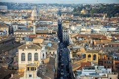 Vista di Roma dall'altare della patria Fotografia Stock