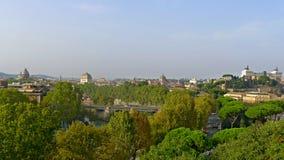 Vista di Roma dalla collina di Aventine Immagini Stock Libere da Diritti