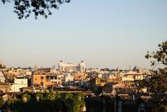 Vista di Roma dalla villa Borghese Immagini Stock Libere da Diritti