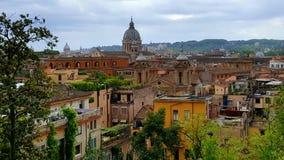 Vista di Roma, Italia da Piazza del Popolo Fotografie Stock