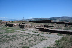 Vista di ruions di Erebuni in Armenia Immagini Stock
