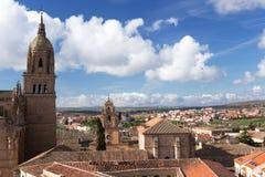 Vista di Salamanca e di La Clerecia Fotografia Stock