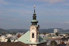 Vista di Salisburgo immagini stock