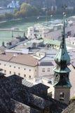 Vista di Salisburgo fotografie stock libere da diritti