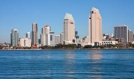 Vista di San Diego da Coronado Fotografia Stock