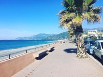 Vista di Sanremo Ligure Italia Nizza Fotografia Stock Libera da Diritti