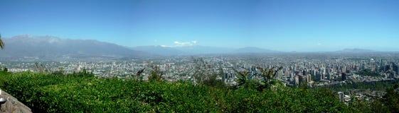 Vista di Santiago del Cile Fotografia Stock Libera da Diritti