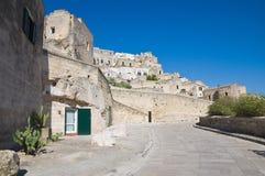 Vista di Sassi di Matera. La Basilicata. L'Italia. Immagine Stock