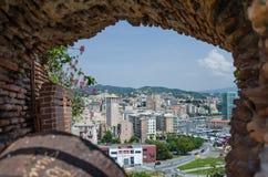Vista di Savona dal Priamar fotografia stock