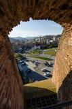 Vista di Savona dalla cannoniera fotografie stock