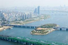 Vista di Seoul da 63 che costruiscono Fotografie Stock Libere da Diritti