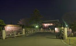 Vista di sera del giardino di Himeji Immagine Stock