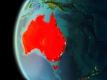 Vista di sera dell'Australia su terra Fotografia Stock Libera da Diritti