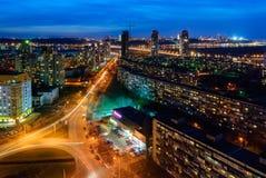 Vista di sera di Kiev Fotografia Stock Libera da Diritti