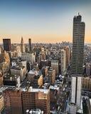 Vista di sera di New York Fotografie Stock Libere da Diritti