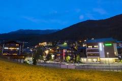 Vista di sera di Zermatt in Svizzera Fotografia Stock Libera da Diritti
