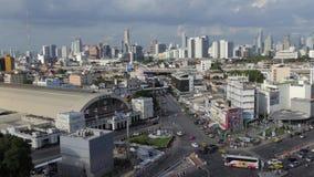 Vista di settore commerciale a Bangkok archivi video