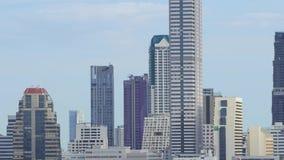 Vista di settore commerciale a Bangkok, Tailandia video d archivio