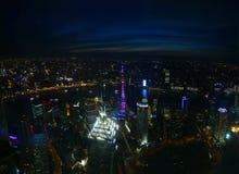 Vista di Shanghai, Cina fotografia stock