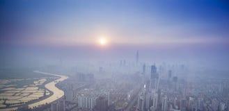 Vista di Shenzhen da sopra fotografie stock libere da diritti
