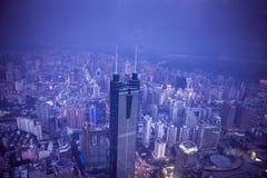 Vista di Shenzhen da sopra fotografia stock libera da diritti