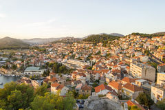 Vista di Sibenik, Croazia Immagine Stock
