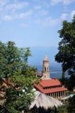 Vista di Signagi alla valle di Alazani Fotografia Stock