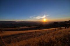 Vista di Silicon Valley dal supporto Hamilton al tramonto Immagine Stock Libera da Diritti