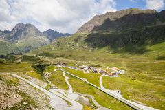 Vista di Silvretta a Madlener Haus, Austria Fotografia Stock
