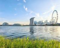 Vista di Singapore centrale Fotografie Stock Libere da Diritti