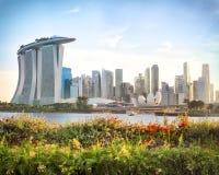 Vista di Singapore centrale Fotografia Stock