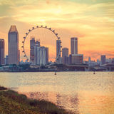 Vista di Singapore centrale Immagini Stock Libere da Diritti